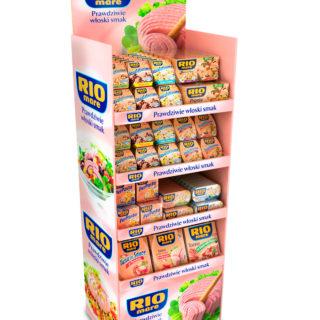 sklep artykuły spożywcze stojak kartonowy