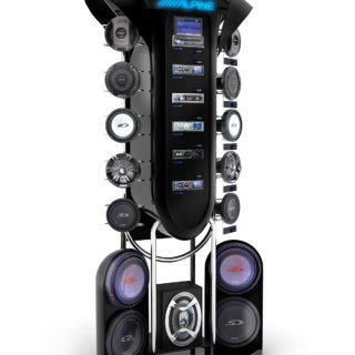 stojak stand reklamowy głośniki