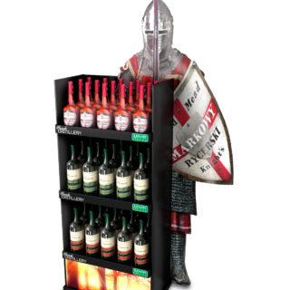 sklep napoje alkoholowe regał kartonowy