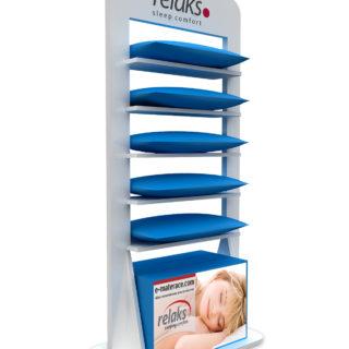 stojak reklamowy na poduszki stand reklamowy