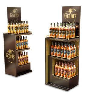 ekspozycja sklepowa na alkohol stand reklamowy