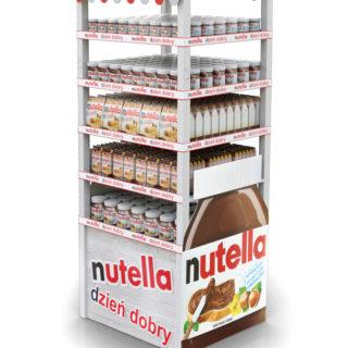 stojak stand reklamowy nutella