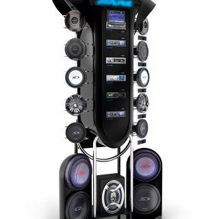 ekspozycja sklepowa sprzęt audio