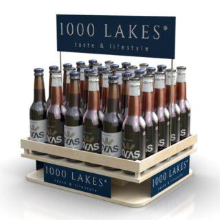 1000 Lakes reklama stojak lada